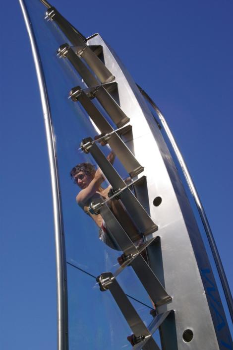 WATERCLIMBING Kletterwand Sportbecken