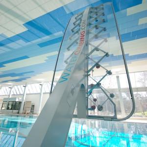 Wasserkletterwand, Schwimmbadkletterwand
