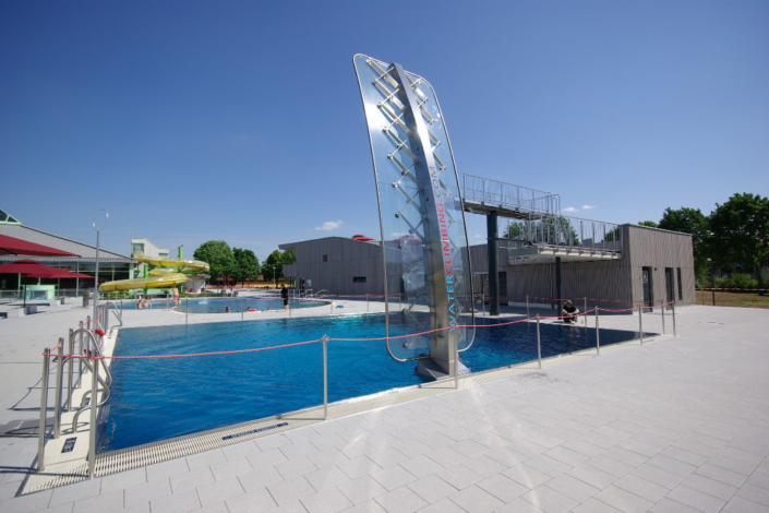 WATERCLIMBING WSO 600 Schwimmbad-Kletterwand